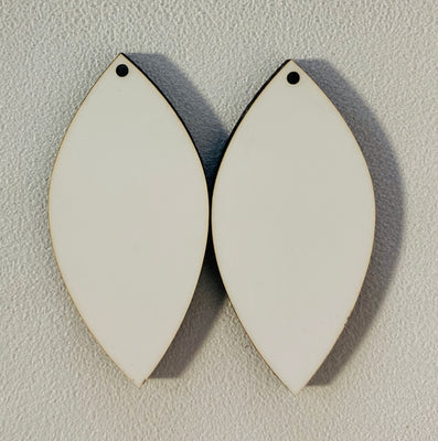 Sublimation Earrings, pointed teardrop, 1.5 inch - 1 sided SE6