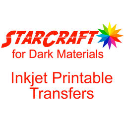 StarCraft Inkjet Printable Heat Transfers for Dark Materials 10-Pack 8.5x11 inch sheets