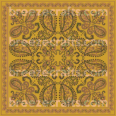 Bandana patterned HTV or Adhesive Vinyl, gold and black pattern vinyl sheet -Craft Vinyl Sheets -  HTV6009 - Breeze Crafts
