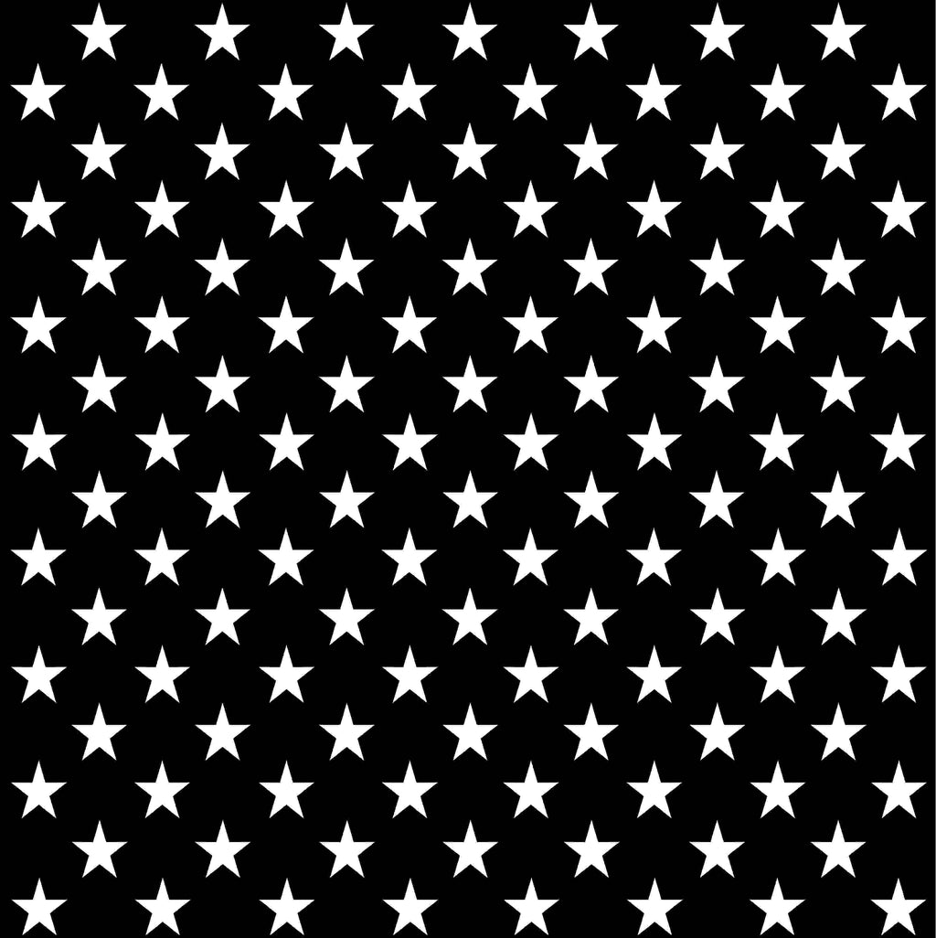 Black With White Large Stars Craft Vinyl Sheet Htv Adhesive Vinyl Breeze Crafts