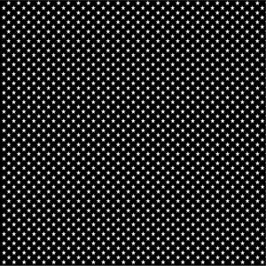 Black with white mini stars craft  vinyl sheet - HTV -  Adhesive Vinyl -  star pattern HTV2418 - Breeze Crafts