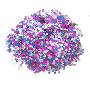 darice chunky blue silver pink mixed glitter .75 ounce container, glitter for crafts, glitter for candles, glitter for cups, glitter for tumblers