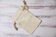 Linen fabric bag with hemp cord 5x7 inch