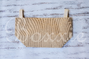 Burlap Utility Basket with Natural Lining 13x11x8.25 inch with handles