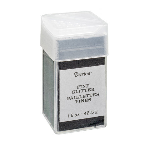Glitter - Ebony Black Extra Fine - 1.5 ounce, Darice glitter for crafts and tumblers