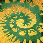 Green distressed with gold glitter pattern vinyl - HTV  or Adhesive Vinyl - St. Patrick's Day HTV4713
