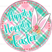 Hippity Hoppity Easter Heat Transfer Vinyl or Sublimation Transfer - T103
