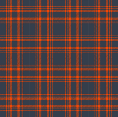 Dark navy and orange plaid craft pattern vinyl sheet - HTV -  Adhesive Vinyl - tartan HTV1866 - Breeze Crafts