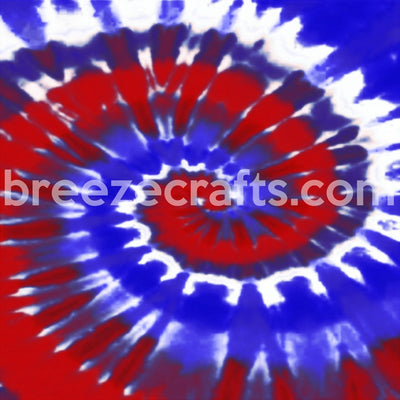 Tie Dye pattern vinyl sheet - HTV or Adhesive Vinyl -  red, white and blue HTV2504