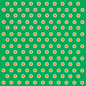 Green with orange and white polka dots craft  vinyl - HTV -  Adhesive Vinyl -  polka dot pattern HTV264