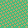 Green and orange quatrefoil craft vinyl - HTV -  Adhesive Vinyl -  quartrefoil pattern HTV1447