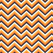 Black, orange, yellow-orange and white chevron craft  vinyl - HTV -  Adhesive Vinyl -  Halloween zig zag pattern   HTV6501 - Breeze Crafts