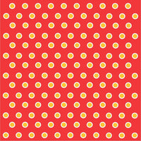 Red with yellow gold and white polka dots craft  vinyl - HTV -  Adhesive Vinyl -  polka dot pattern HTV267