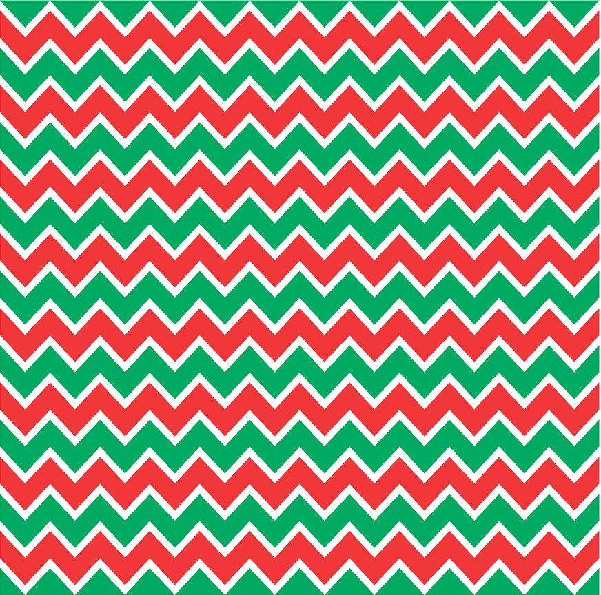 Red, green and white chevron craft  vinyl - HTV -  Adhesive Vinyl -  zig zag pattern Christmas HTV185