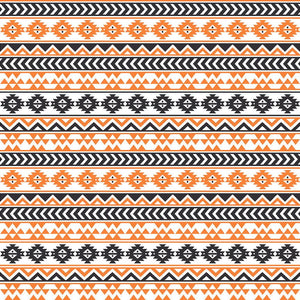 Black, white and orange tribal pattern craft vinyl - HTV -  Adhesive Vinyl -  Aztec Peruvian pattern HTV942 - Breeze Crafts