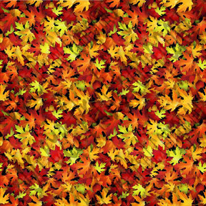 Autumn leaves pattern printed craft  vinyl sheet - HTV -  Adhesive Vinyl -  fall foliage  HTV5050 - Breeze Crafts