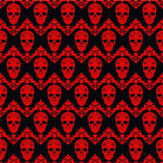 Black and red floral skull pattern craft  vinyl sheet - HTV -  Adhesive Vinyl -  Halloween pattern HTV835 - Breeze Crafts