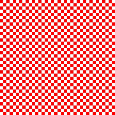 Red and white checkerboard craft  vinyl pattern sheet - HTV -  Adhesive Vinyl -  htv2403
