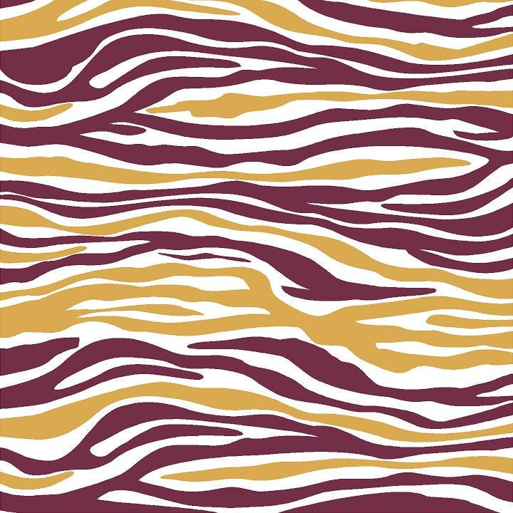 Maroon, gold and white zebra print craft  vinyl sheet - HTV -  Adhesive Vinyl -  pattern vinyl HTV1236