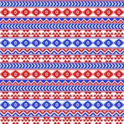 Blue, red and white tribal pattern craft vinyl - HTV -  Adhesive Vinyl -  Aztec Peruvian pattern HTV944 - Breeze Crafts