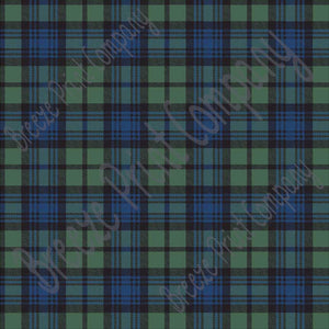 Black watch plaid craft  vinyl sheet - HTV -  Adhesive Vinyl -  blue, black and green plaid HTV1822 - Breeze Crafts