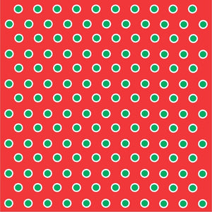 Red with green and white polka dots craft  vinyl - HTV -  Adhesive Vinyl -  polka dot pattern HTV268