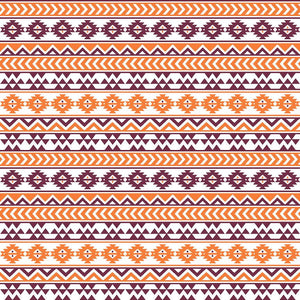 Maroon, white and orange tribal pattern craft vinyl - HTV -  Adhesive Vinyl -  Aztec Peruvian pattern HTV938