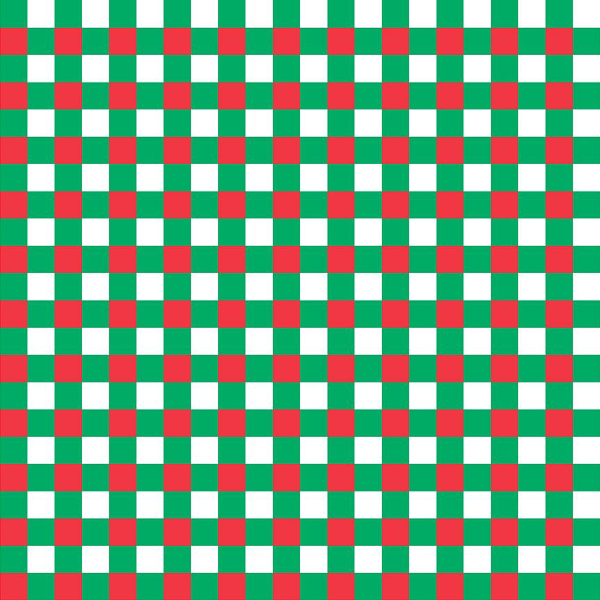 Red, green and white check craft  vinyl pattern sheet - HTV -  Adhesive Vinyl -  htv3408