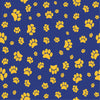 Navy with yellow-gold paw prints craft  vinyl sheet - HTV -  Adhesive Vinyl -   pattern HTV611