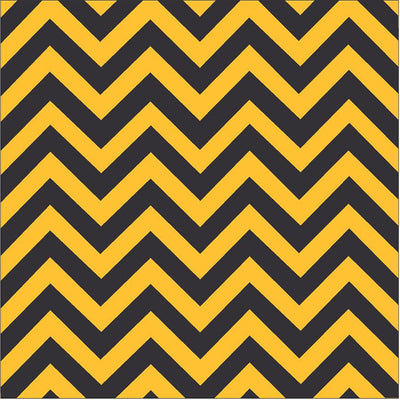 Black and yellow-gold chevron craft  vinyl - HTV -  Adhesive Vinyl -  black and athletic yellow zig zag pattern - Breeze Crafts