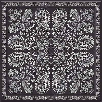Black bandana pattern printed craft  vinyl sheet - HTV -  Adhesive Vinyl -   HTV6004 - Breeze Crafts