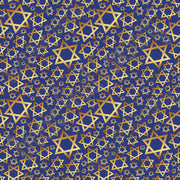 Star of David navy and gold pattern craft  vinyl sheet - HTV -  Adhesive Vinyl -  Hanukkah HTV4401