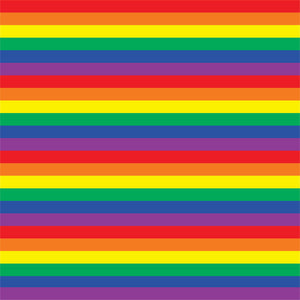 Rainbow stripe craft  vinyl sheet - HTV -  Adhesive Vinyl -  small stripe pattern HTV166