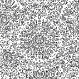 Black and white Mandala pattern printed craft  vinyl sheet - HTV -  Adhesive Vinyl -   HTV4700 - Breeze Crafts