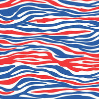 Red, blue and white zebra print craft  vinyl sheet - HTV -  Adhesive Vinyl -  pattern vinyl HTV1238