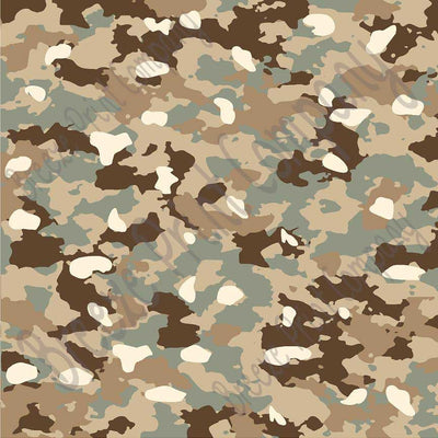 Camouflage craft vinyl - HTV or Adhesive Vinyl - green, brown, beige, tan, camo army pattern HTV1053 - Breeze Crafts
