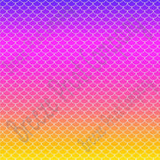 Mermaid purple, pink, coral and yellow print craft  vinyl sheet - HTV -  Adhesive Vinyl -  gradient print vinyl  HTV3151