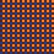 Navy, orange and dark brown check craft  vinyl pattern sheet - HTV -  Adhesive Vinyl -  htv3415
