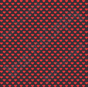 Black with red small heart craft  vinyl sheet - HTV -  Adhesive Vinyl -  Valentine's Day HTV3952 - Breeze Crafts