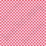 Light pink with red small heart craft  vinyl sheet - HTV -  Adhesive Vinyl -  Valentine's Day HTV3953