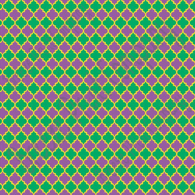 Purple green and yellow background quatrefoil craft  vinyl sheet - HTV -  Adhesive Vinyl -  quarterfoil pattern Mardi Gras  HTV1461