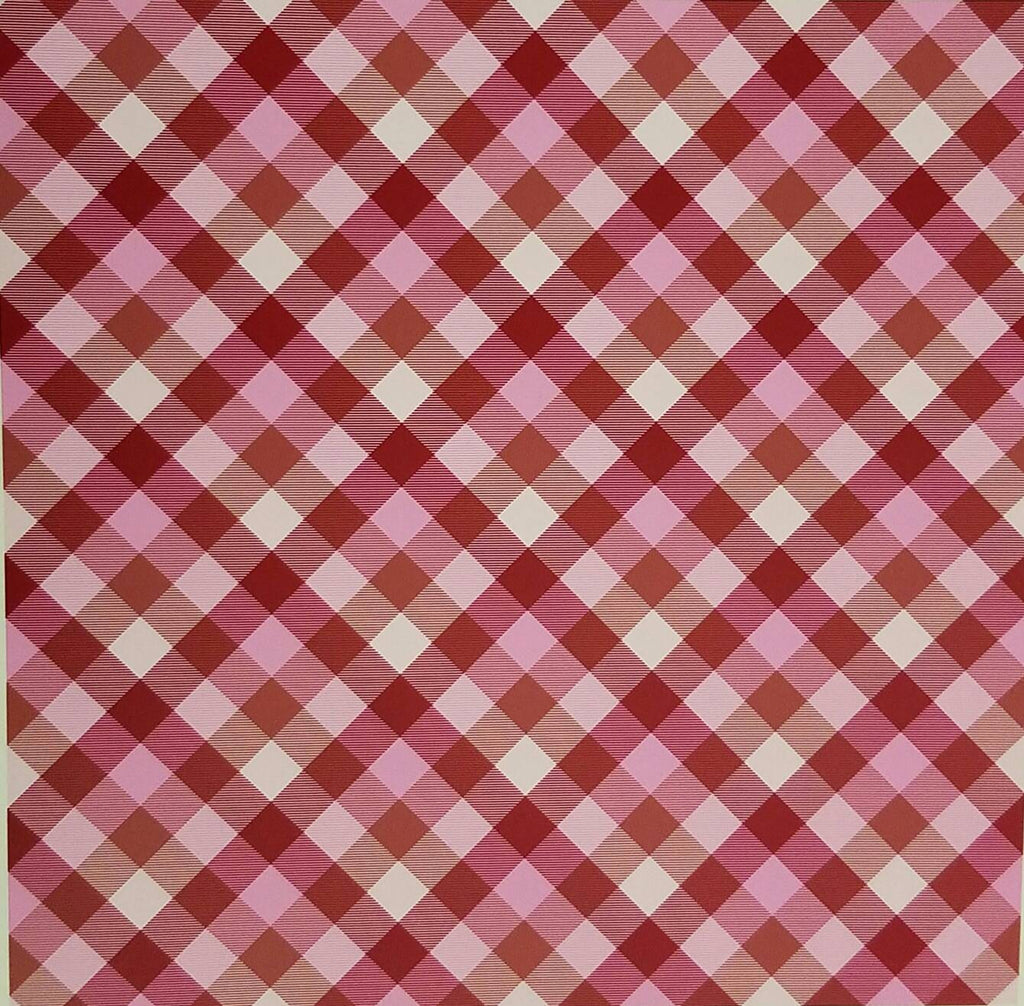 Burgundy and Pink plaid craft  vinyl sheet - HTV -  Adhesive Vinyl -  Valentine Day HTV1850 - Breeze Crafts