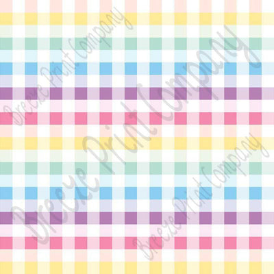 Multi color and white buffalo check craft  vinyl pattern sheet - HTV -  Adhesive Vinyl -  spring Easter colors htv3406
