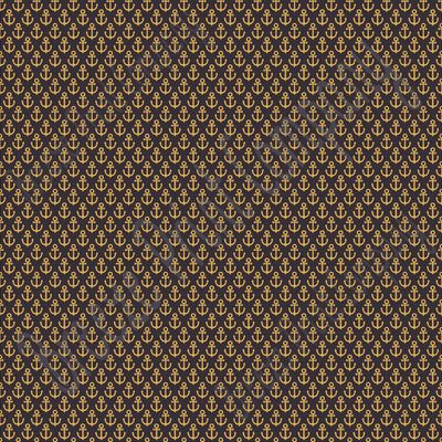 Black with gold anchor craft  vinyl sheet - HTV -  Adhesive Vinyl -  nautical pattern HTV3301 - Breeze Crafts