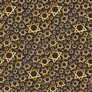 Star of David black and gold pattern craft  vinyl sheet - HTV -  Adhesive Vinyl -  Hanukkah HTV4400