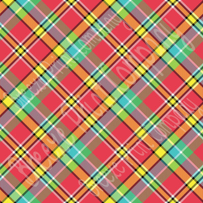 Madras plaid craft vinyl sheet - HTV -  Adhesive Vinyl -  multi color HTV1830