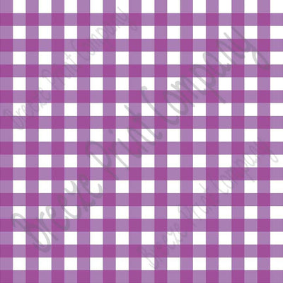 Purple and white buffalo check craft vinyl pattern sheet - HTV -  Adhesive Vinyl -   htv3409