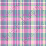 Purple and green madras plaid craft vinyl sheet - HTV -  Adhesive Vinyl - HTV1835