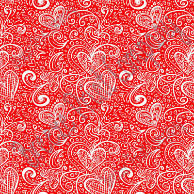 Red heart and swirl pattern craft  vinyl sheet - HTV -  Adhesive Vinyl -  Valentine's Day HTV3952