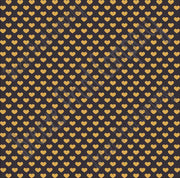 Black with gold small heart craft  vinyl sheet - HTV -  Adhesive Vinyl -  Valentine's Day HTV3955 - Breeze Crafts